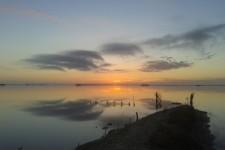 eccolo il momento magico per ogni cacciatore di anatre, l'alba. Foto di Roberto Are